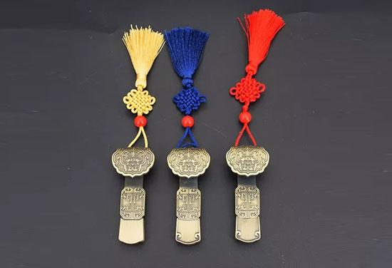 古典串珠中国结系列 定制中国风金属如意U盘