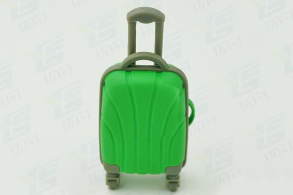 旅游运动行业礼品定制拉杆箱U盘 PVC皮箱造型U盘
